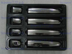 Накладки на ручки 4х дверей, Omsaline, нерж. сталь, к-кт