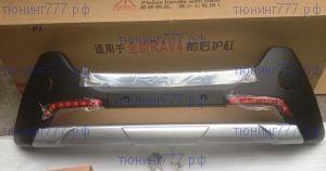 Накладка на передний бампер, cnt4x4, пластик, а/м 2013-11/2015