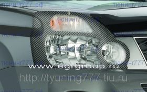 Защита фар EGR, прозрачная, с карбоновой окантовкой