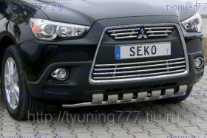 Защита переднего бампера Seko, нерж. сталь ф 50мм., а/м 2010-2012