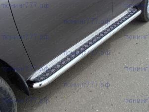 Подножки боковые, ТСС, площадка алюминий, трубы нерж. сталь ф 60мм