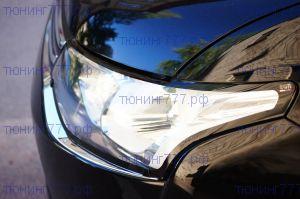 Защита фар, EGR, прозрачная с черной окантовкой