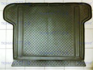 Коврик (поддон) в багажник, Unidec, черный полиуретановый с бортиками, для 5 местного салона