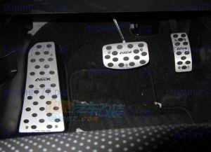 Накладки на педали, с логотипом, алюминий с резиновыми вставками