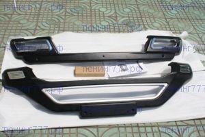 Накладки переднего и заднего бампера, cnt4x4, пластик