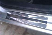 Накладки на пороги с логотипом, полированая нерж. сталь