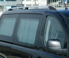 Рейлинги на крышу, Voyager, отполированый алюминий (эффект хрома)