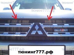 Сетка в решетку радиатора и бампер, алюминий, 100 х 40см