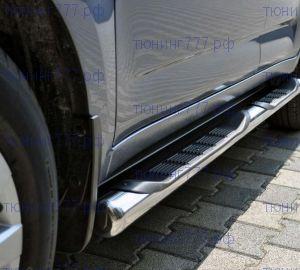 Боковые подножки ARP, с площадкой, нерж. сталь ф 76мм