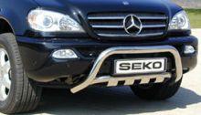 Защита переднего бампера Seko, кенгурятник, нерж. сталь ф 76мм (низ идет отдельно)