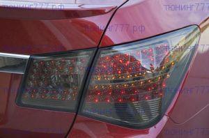 Задняя LED оптика, стиль Мерседес, темная, к-кт