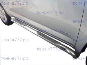 Боковые подножки Winbo, трубы с проступями, нерж. сталь, 5дв. кузов длиная база