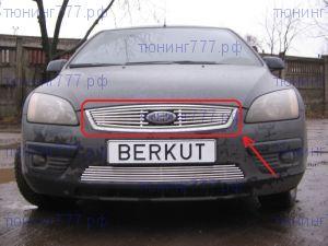 Решетка радиатора, Berkut, полированая нерж. сталь, а/м 2004-2007