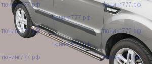 Боковые подножки Misutonida, овал, серия Protezioni Laterali Design, нерж. сталь