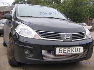 Решетка в бампер, Berkut, нерж. сталь, а/м 2008-2011