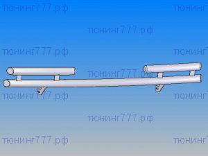 Защита переднего бампера SM, двойная труба, нерж. сталь ф 60мм