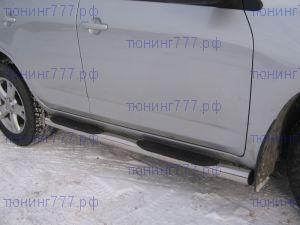 Боковые подножки Berkut, трубы с проступями, нерж. сталь ф 76мм., а/м 2008-2010