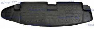 Коврик (поддон) в багажник, Unidec, черный с бортиками, 7мест. салон