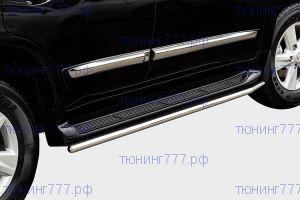 Защита штатных порогов, Souz-96, нерж. сталь ф 42мм