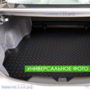 Коврик (поддон) в багажник, Unideс, полиуретановый черный с бортиками, 5 местн