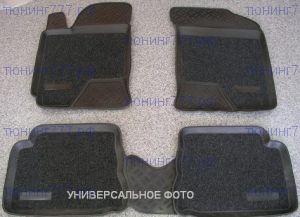 Коврики в салон, Aileron, с ворс. вставкой, чёрные, на 2 ряда