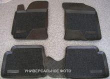 Коврики в салон, Aileron, с ворсовой вставкой, черные с бортиком, на 2 ряда