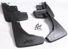Брызговики черные, с логотипами jeep, к-кт