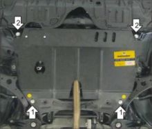 Защита картера и кпп, Motodor, сталь 2мм,, V - 2.0, 2.5, 2.7л