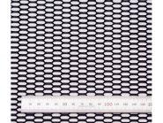 Сетка в бампер, Сота, алюминий, цвет черный, 100 х 40см