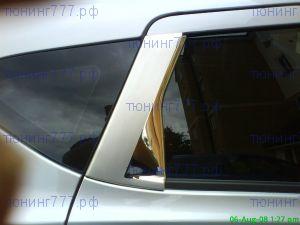 Накладка на рамку задних дверей, отполированая нерж. сталь