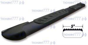 Боковые подножки Challenger, трубы с проступями, сталь в черном цвете