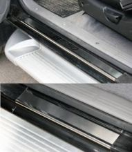 Накладки на пороги, Souz-96, нерж. сталь на металл, 4шт.