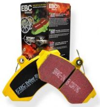 Колодки тормозные, EBC, серия Yellow Stuff, задний к-кт