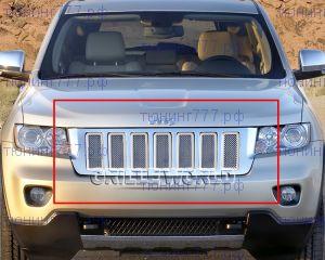 Вставки в решетку радиатора, нерж. сталь, 7 частей, а/м 2011-2013