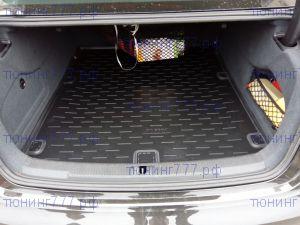 Коврик (поддон) в багажник, Aileron, черный с бортиком