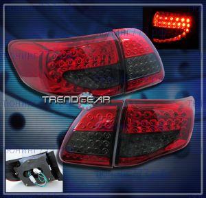 Фонари задние светодиодные, LED Red/Smoke, а/м 2007-2010 седан