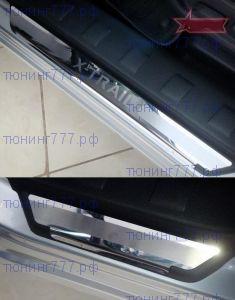Накладки на пороги Souz-96, нерж. сталь, на пластик
