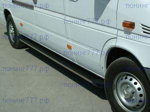Боковые подножки Voyager, серия Truva, алюминиевые с пластик. накладками, короткая база