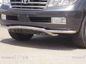 Защита переднего бампера Tal&Hadas, с нижней защитой, нерж. сталь