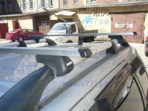 Багажник на крышу с рейлингами, Atlant, прямоугольные дуги
