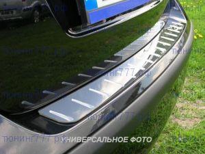 Накладка на задний бампер, Alufrost, с вставками, нерж. сталь, а/м с 09/2010-