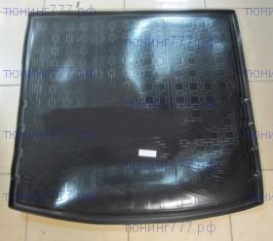 Коврик (поддон) в багажник с органайзером, Unideс, полиэтилен, черный с бортиками