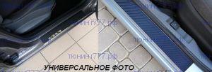 Накладки на пороги, Alufrost, нерж. сталь в карбоне, 4шт