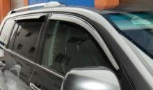 Ветровики (дефлекторы) 4х окон, EGR, темно-дымчатые