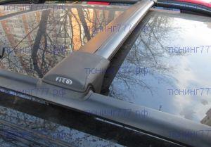 Багажник на рейлинги, FicoPro, чёрные аэродуги, а/м с 07.2015-