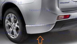 Накладки заднего бампера, уголки, Оригинал в цвет, а/м до 05/2014