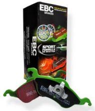 Тормозные колодки EBC, серия Green Stuff, передние для 1.6 (120л.с.)