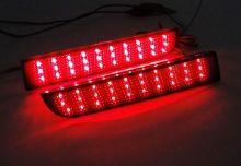 Катафоты заднего бампера, LED светодиодные, черный стиль, к-кт