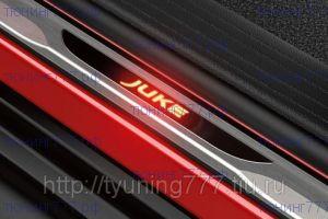 Накладки на внутренние пороги, с подсветкой логотипа