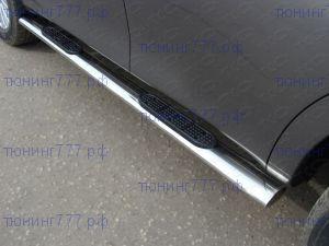 Подножки боковые, ТСС, нерж. сталь, овал, ф 120х60мм